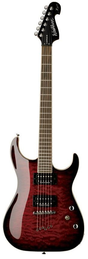 Guitarra Washburn X50 PRO Quilted Maple X Series Wine Red com Bag