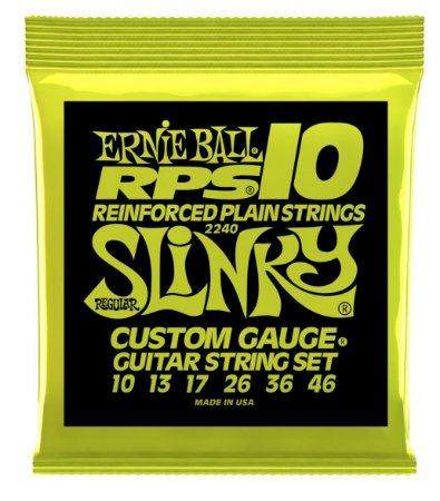 Encordoamento Ernie Ball Regular Slinky RPS .010 para Guitarra