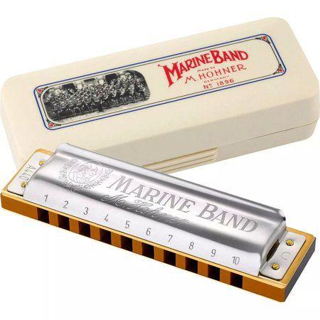 Gaita Hohner Diatônica Marine Band 1896/20