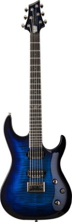 Guitarra Washburn Parallaxe PXMTR20 Trevor Rabin Signature Flame Trans Blue