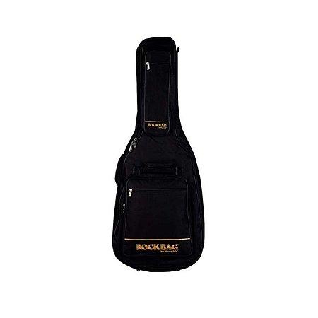 Capa Rockbag RB 20709 B Royal Premium Line para Violão Folk