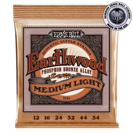 Encordoamento Ernie Ball Earthwood Phosphor Bronze .012 /.054 Medium Light 2146 para Violão