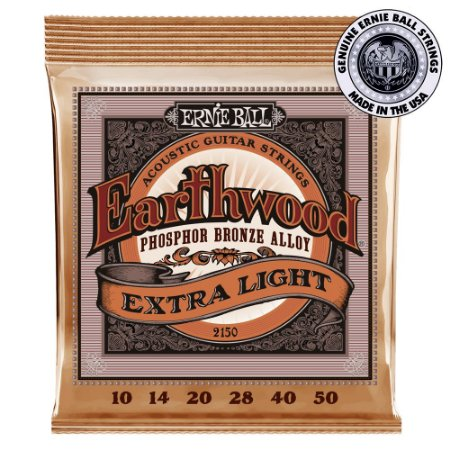 Encordoamento Ernie Ball Earthwood Phosphor Bronze .010 /.050 Extra Light 2150 para Violão