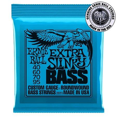 Encordoamento Ernie Ball Extra Slinky Bass .040 /.95 para Contrabaixo