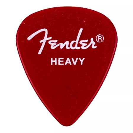 Kit Palhetas Fender California Clear Heavy 12pçs