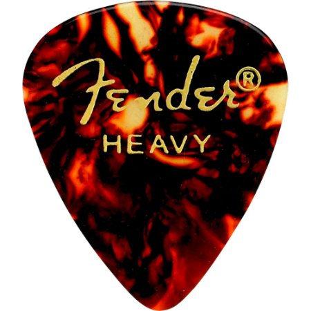 Kit Palhetas Fender Classic Celluloid Picks 351 Shell Heavy 12pçs
