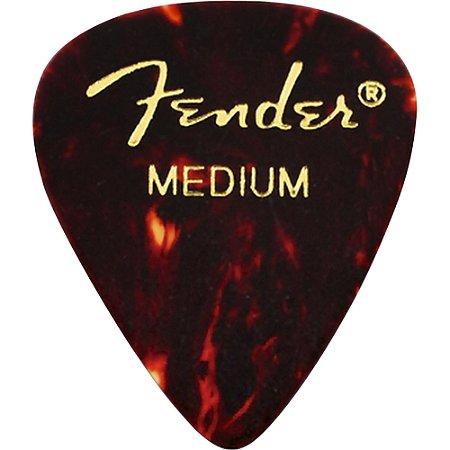Kit Palhetas Fender Classic Celluloid Picks 351 Shell Medium 12pçs
