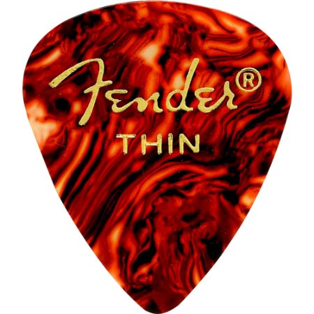 Kit Palhetas Fender Classic Celluloid Picks 351 Shell Thin 12pçs