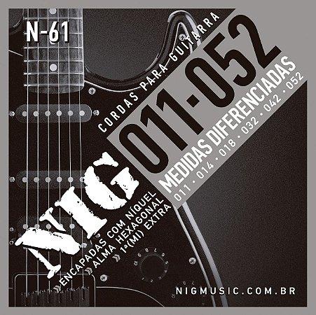 Encordoamento Nig N-61 .011''/.052'' para Guitarra Aço