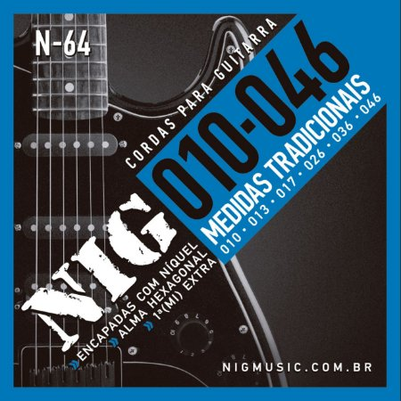 Encordoamento Nig N-64 .010''/.046'' para Guitarra Aço