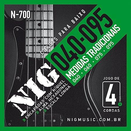 Encordoamento Nig N-700 .040/.095 para Contrabaixo