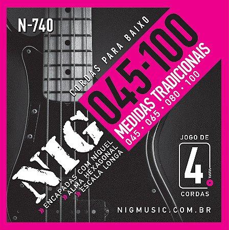 Encordoamento Nig N-740 .045/.100 para Contrabaixo
