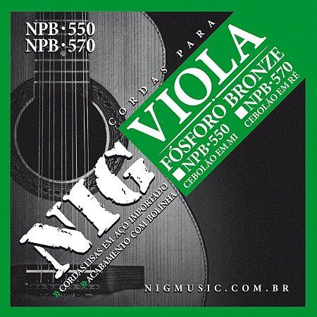 Encordoamento Nig Série NPB550 para Viola