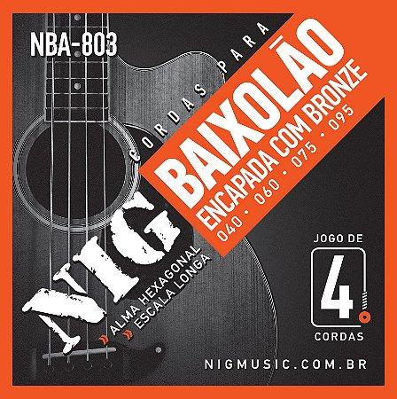 Encordoamento Nig Série NBA803 .04'/.095 para Baixolão