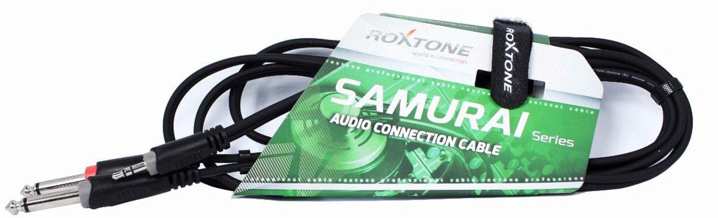 Cabo de Áudio Roxtone RAYC130L2 P2/P10 Stereo 2m