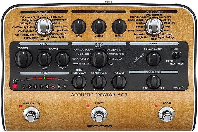 Pedaleira Zoom AC-3 Acoustic Creator para Violão