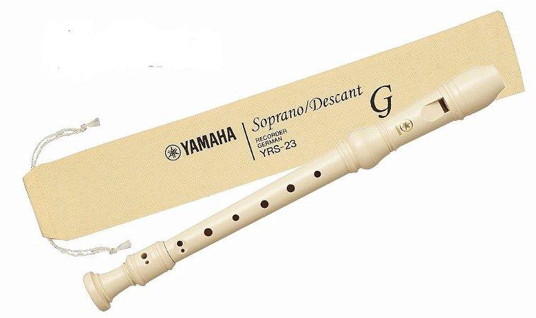 Flauta Doce Yamaha YRS23G Germânica Soprano Descant C