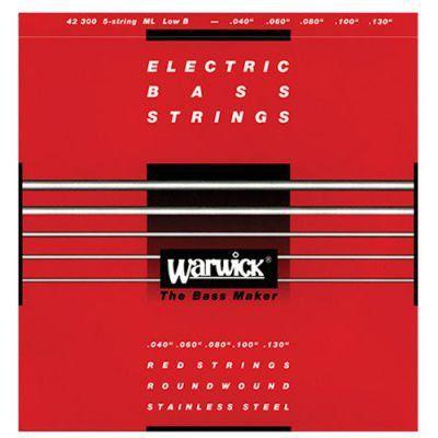 Encordoamento Warwick 42210 Red Strings 4C .040/.100 para Contra Baixo