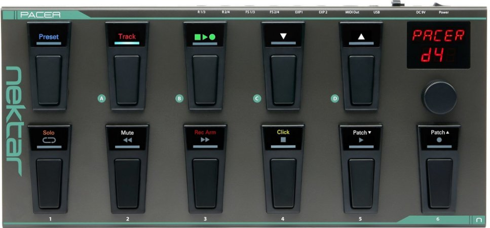 Pedaleira Controladora Nektar Pacer Midi Foot Controller