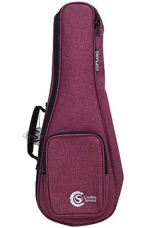 Capa Custom Sound UKS Premium para Ukulele Soprano Vinho