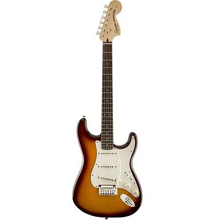 Guitarra Fender Squier Standard Stratocaster FTM Amber Burst