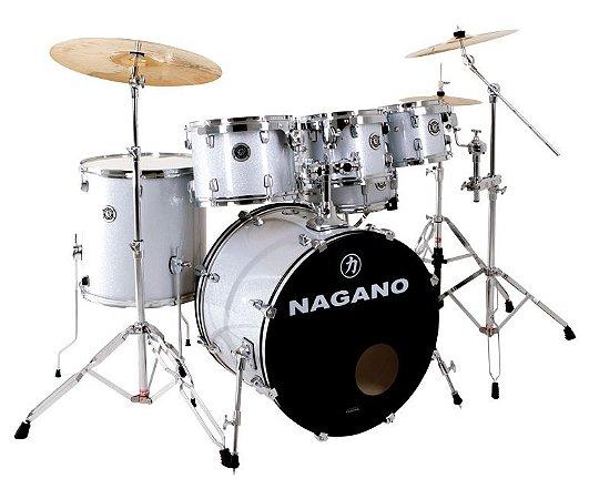 Bateria Acústica Nagano Garage Fusion 20 Grey Sparkle