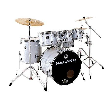 Bateria Acústica Nagano Garage Rock 22 Grey Sparkle