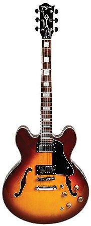 Guitarra Semi-Acústica Tagima Blues 3000 Honeyburst com Case