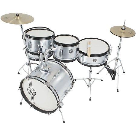 Bateria Acústica Nagano One Drum JBJ1049 Junior Metallic Silver