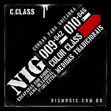 Encordoamento NIG Color Class 009/042 Vermelho para Guitarra