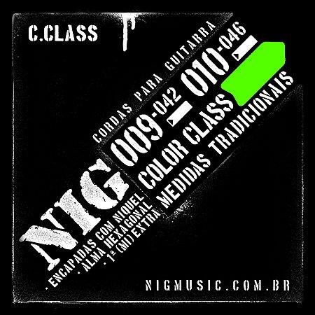 "Encordoamento NIG Color Class .010"" Verde para Guitarra"
