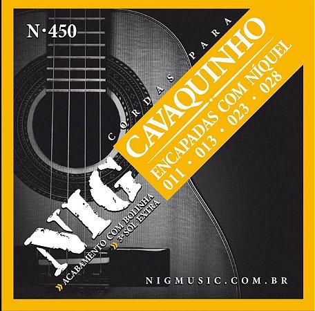 Encordoamento Nig N-450 .011''/.028'' para Cavaquinho