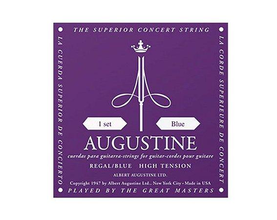 Encordoamento Augustine Regal/Blue Tensão Alta para Violão Nylon