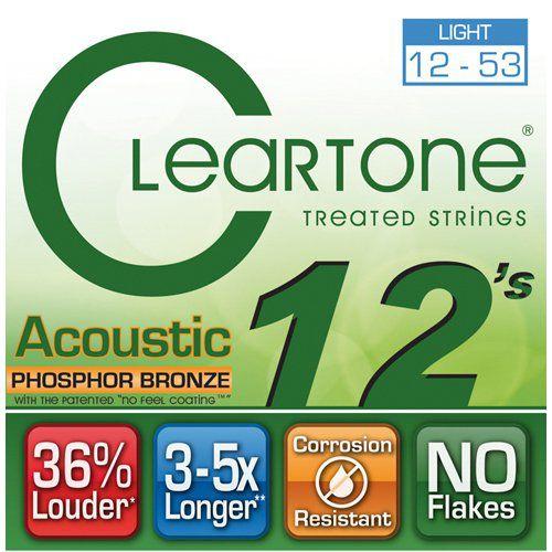 Encordoamento Cleartone 7412 Acoustic Phosphor Bronze .012''/.53'' para Violão