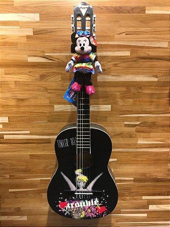Violão Acústico PHX VJT-1 Disney Tinkerbell Trouble Nylon com Capa