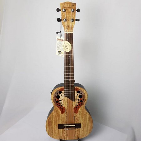 Ukulele Eletro-Acústico Akahai AKV-26e Tenor Spalted Maple e Bag