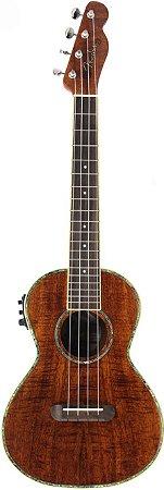 Ukulele Eletro-Acústico Fender Tenor Nohea Electric Natural Com Bag