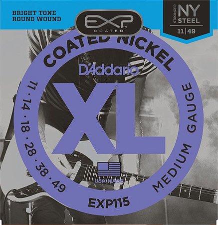 Encordoamento D'addario EXP115 6 Cordas .11/.49. para Guitarra