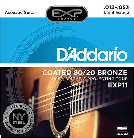 Encordoamento D'addario EXP11 6 Cordas .012/.053 para Violão