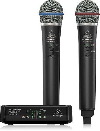 Microfone Behringer Ultralink ULM302 Mic Wireless Dual Digital