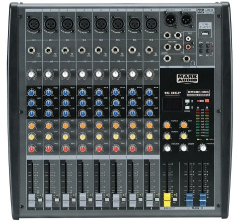 Mesa de Som Mark Audio CMX08 Usb 8 Canais
