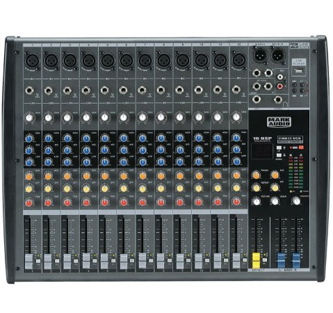 Mesa de Som Mark Audio CMX12 USB 12 Canais