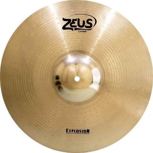 """Prato de Ataque Zeus Cymbals Explosion ZEC17 17"""" Crash"""