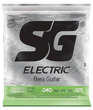 Encordoamento SG Strings .040/.125 Tensão Extra Leve para Contrabaixo