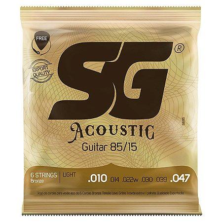 Encordoamento SG Strings Acoustic 85/15 .010/.047 para Violão