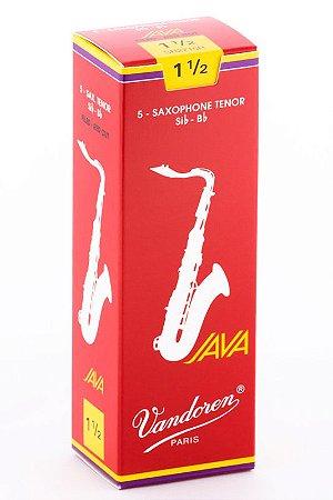 Palheta Vandoren Java Red Cut Nº 1,5 para Sax Tenor