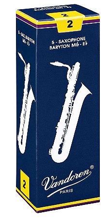 Palheta Vandoren Tradicional Nº 2 para Sax Baritono