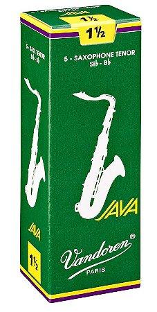 Palheta Vandoren Java Nº 1,5 para Sax Tenor