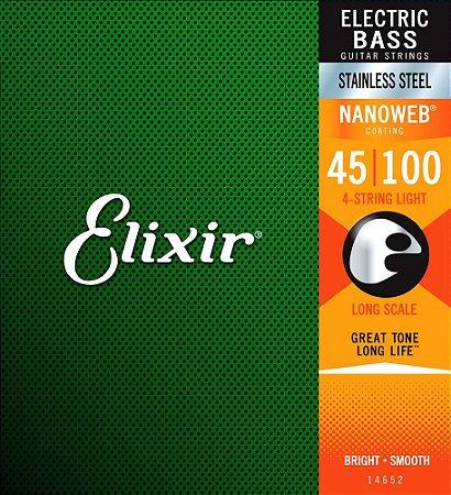 Encordoamento Elixir 0.45/.100 Stainless Light 14652 Nanoweb para Contrabaixo