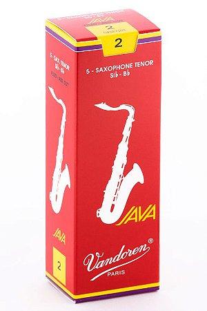 Palheta Vandoren Java Red Cut Nº 2 para Sax Tenor